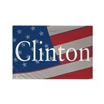 Clinton American Flag Rectangular Magnet