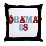 OBAMA 08 Throw Pillow