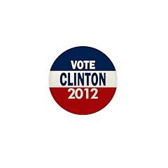 Vote Clinton 2012 Mini Button (100 pack)