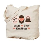 Peace Love Handbags Purse Tote Bag