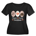 Peace Love Handbags Purse Plus Size Scoop Tee