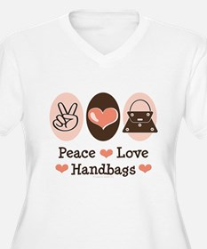 Peace Love Handbags Purse T-Shirt