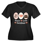 Peace Love Handbags Purse Women's Plus Size V-Neck