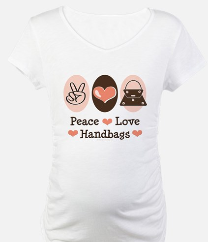 Peace Love Handbags Purse Shirt