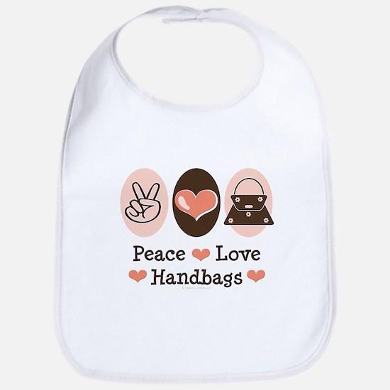 Peace Love Handbags Purse Bib
