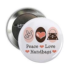 "Peace Love Handbags Purse 2.25"" Button (10 pack)"