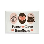 Peace Love Handbags Rectangle Magnet (100 pack)