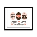 Peace Love Handbags Purse Framed Panel Print