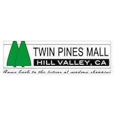 BTTF 'Twin Pines Mall' Bumper Car Sticker