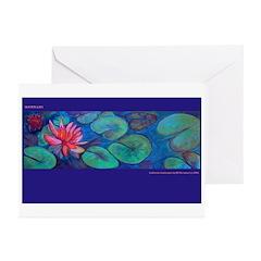 Waterlillies Greeting Cards (Pk of 10)