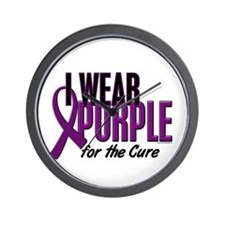 I Wear Purple For The Cure 10 Wall Clock
