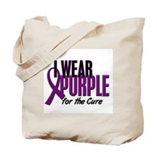 I Wear Purple For The Cure 10 Tote Bag