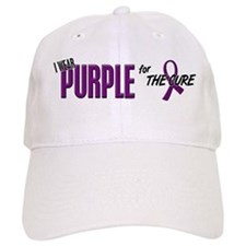 I Wear Purple For The Cure 10 Baseball Cap