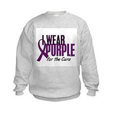 I Wear Purple For The Cure 10 Sweatshirt