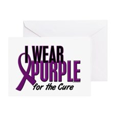 I Wear Purple For The Cure 10 Greeting Card