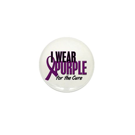 I Wear Purple For The Cure 10 Mini Button (100 pac