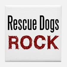 Rescue Dogs Rock Tile Coaster