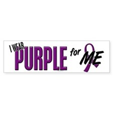 I Wear Purple For ME 10 Bumper Car Sticker
