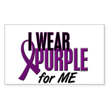 I Wear Purple For ME 10 Rectangle Sticker