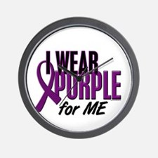 I Wear Purple For ME 10 Wall Clock