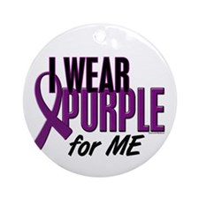 I Wear Purple For ME 10 Ornament (Round)