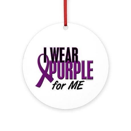 I Wear Purple For ME 10 Ornament (Round)