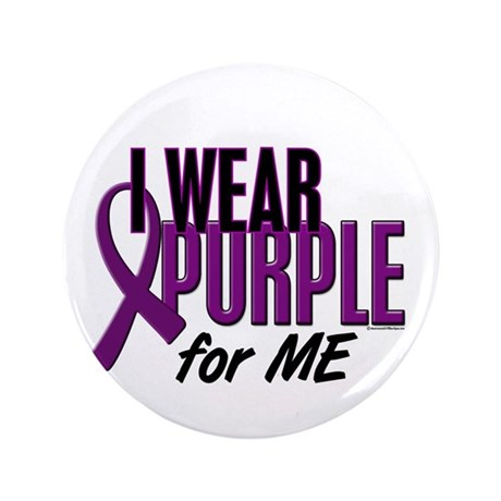 """I Wear Purple For ME 10 3.5"""" Button"""