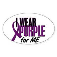 I Wear Purple For ME 10 Oval Decal