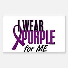 I Wear Purple For ME 10 Rectangle Sticker 10 pk)