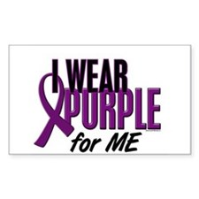 I Wear Purple For ME 10 Rectangle Decal