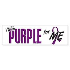 I Wear Purple For ME 10 Bumper Car Sticker