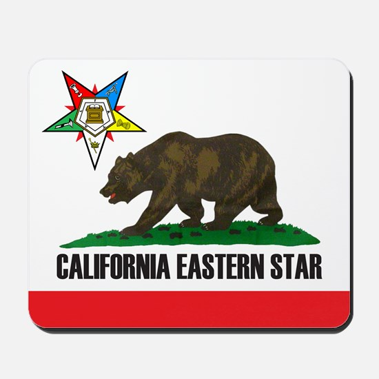 California Flag Eastern Star Mousepad