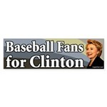 Baseball Fans for Clinton bumper sticker