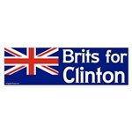 Brits for Clinton bumper sticker