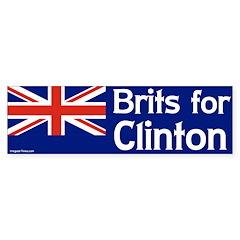 Brits for Clinton bumper sticker