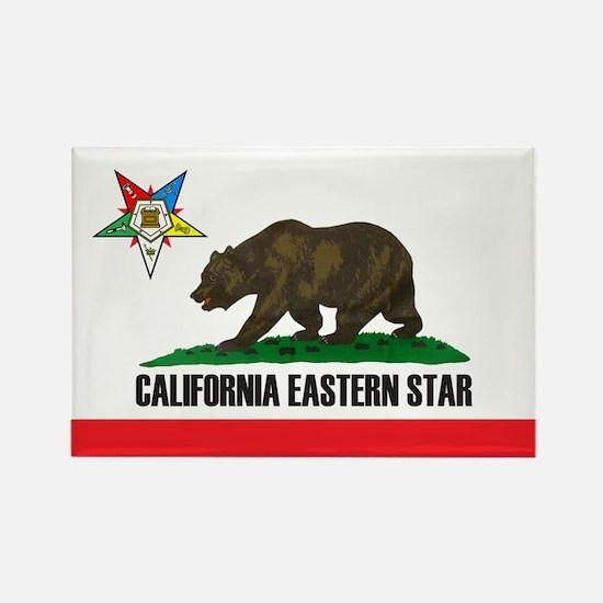 California Flag Eastern Star Rectangle Magnet