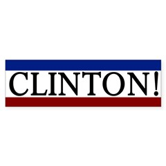 Clinton! Patriotic Bumper Sticker