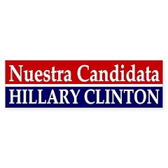 Nuestra Candidata: Clinton car decal