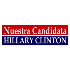 Nuestra Candidata: Clinton car decal