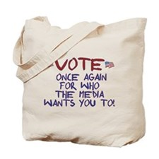 Election Media Endorsement Tote Bag