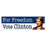 For Freedom Vote Clinton bumper sticker