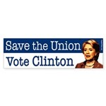 Save the Union Vote Clinton Sticker