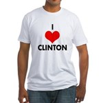 I Heart Clinton Fitted USA T-Shirt