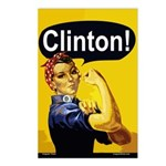 Rosie the Riveter: Clinton! (8 Postcards)