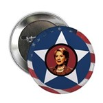 Hillary Clinton Patriotic Star 2.25