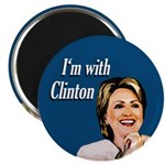 I'm With Clinton Campaign Magnet
