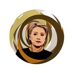 Hillary Clinton Vortex Extra Large Button