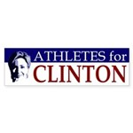 Athletes for Clinton bumper sticker