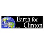 Earth for Clinton bumper sticker