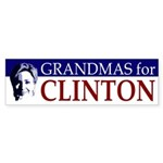 Grandmas for Clinton bumper sticker